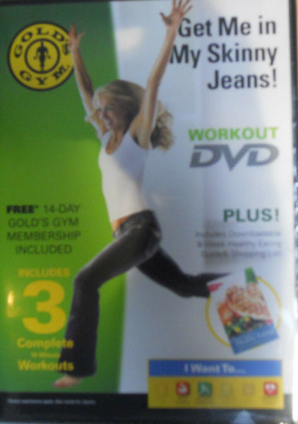 Gold's Gym Workout DVD Get me in My Skinny Jeans NIP