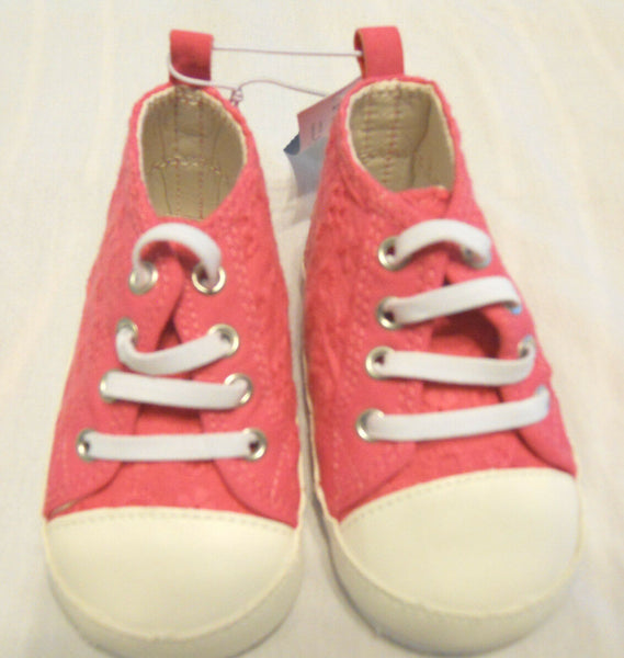 Old Navy Baby Girls Crib Shoes Size  3 (6-12 Months) Infant Soft Sole