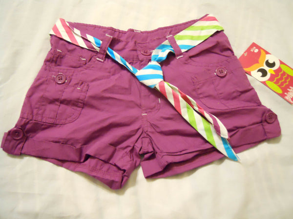 Belted Shorts Girl Size 7 Purple PinkHouse