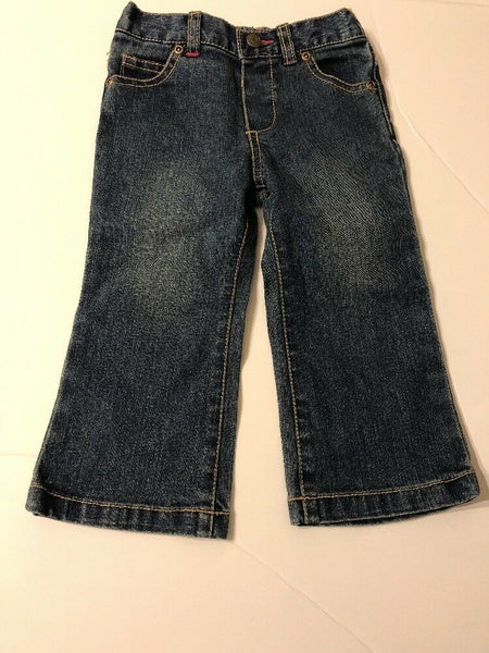 Infants Girls Jeans 18 months 5 Pocket Medium Wash Baby Kids Pants Bottoms