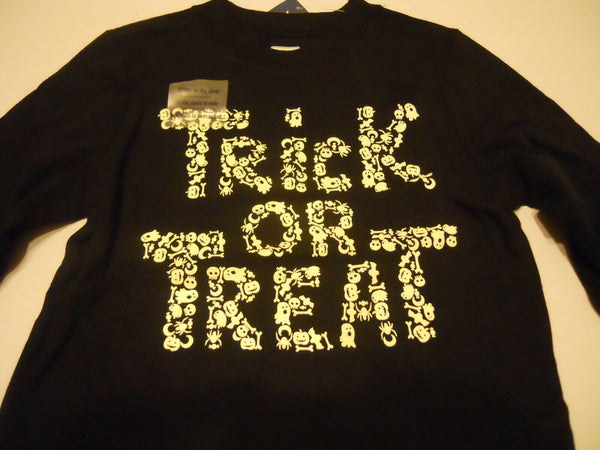 Halloween Tee Shirt Baby Boys Old Navy Glow In The Dark Trick Or Treat Print