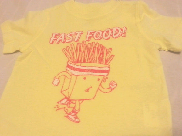 Boy Tee Shirt 12-18 Months Old Navy Baby Yellow Fast Food Short Sleeve