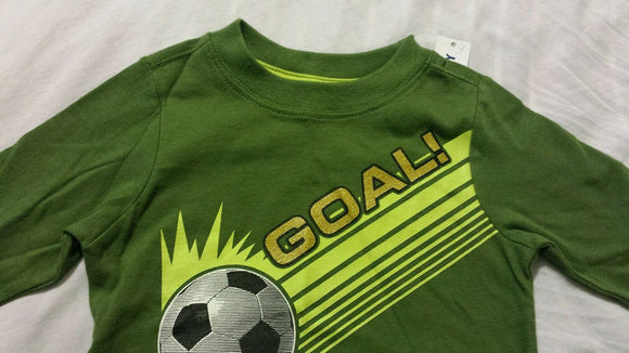 Old Navy Baby Boys Tee Shirt Sz 12-18 Months Green Goal