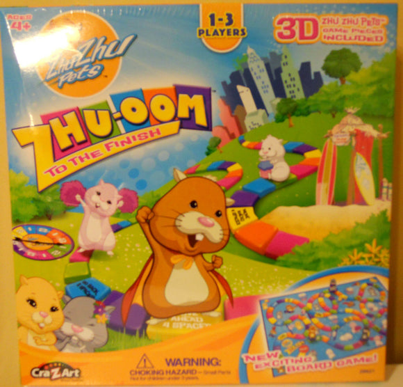Zhu Zhu Pets Board Game 3D Game Pieces Ages 4+
