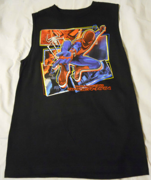 Boys Muscle Tee Shirt The Amazing Spider-Man  Kids NEW