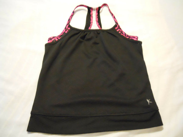 Danskin Girls Tank Top Athletic Double Layer Performance