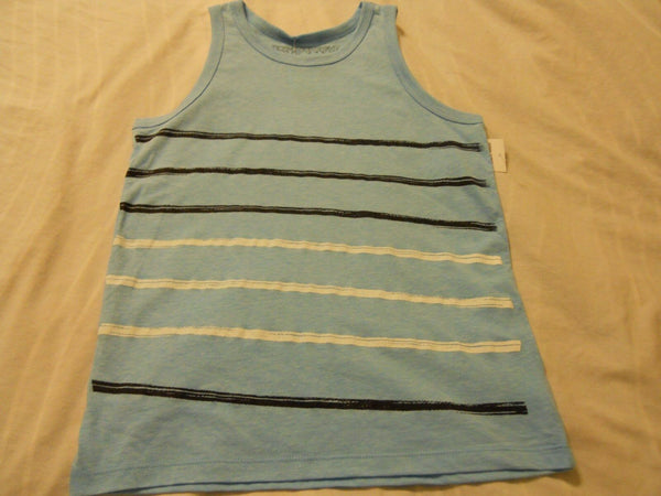 Boys Tank Top Shirts Medium Blue Ocean Current