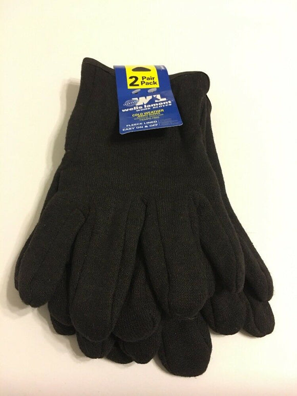 Cold Weather Work Gloves Jersey Fleeced Lined Men Size Large Wells Lamont