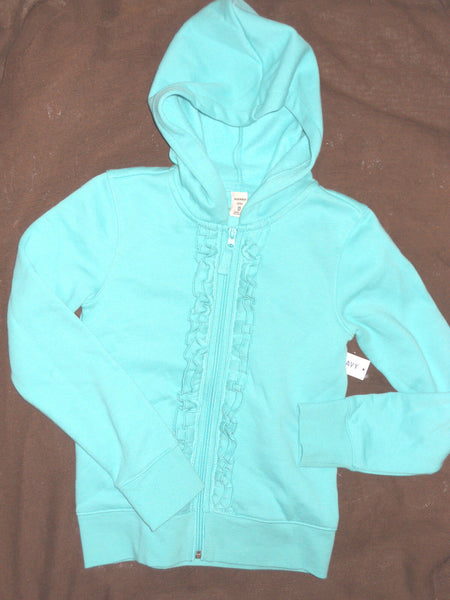 Old Navy Girls Hoodie Jacket Full Zip Up Front Size XS S M L XL Green