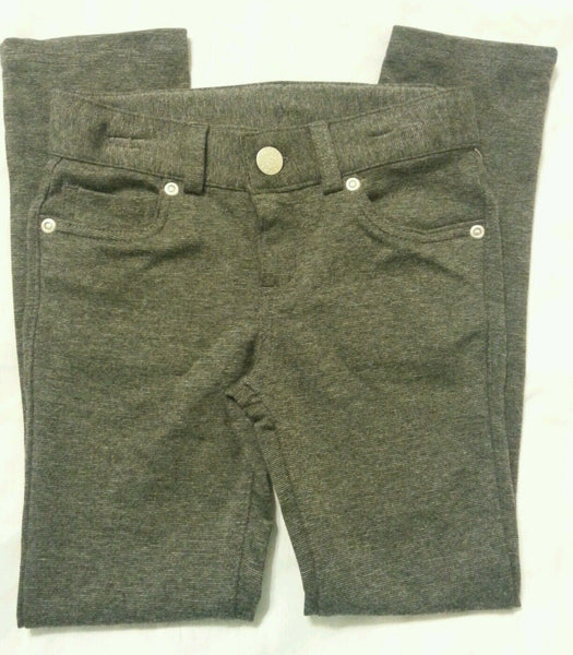 Girls Pants XS 4-5 Gray Jegging Adjustable Waistband