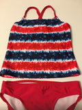 Op Swimsuit Tankini Kids Swimwear Size M 7-8 UPF 50+ Red
