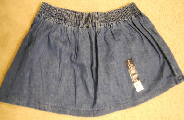 Girl Faded Glory Blue Scooter Skirt Skort Size XS S M L XL Denim NEW