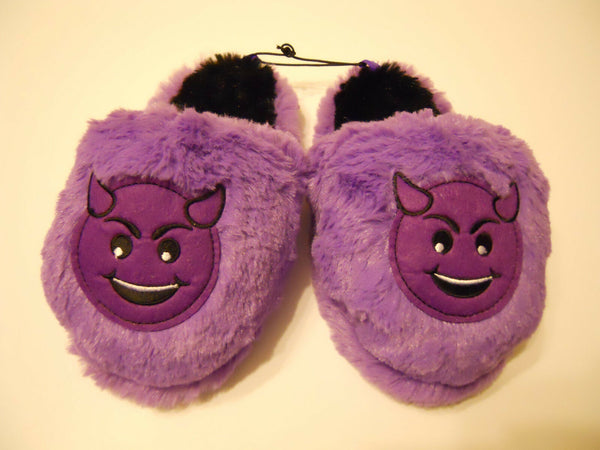 Girls Purple Slipper Shoes Plush