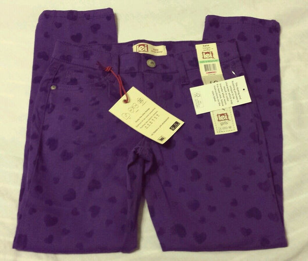 l.e.i. Girls Skinny Pants Sz 8 Reg Kate Lowrise Purple Heart Layla Kids
