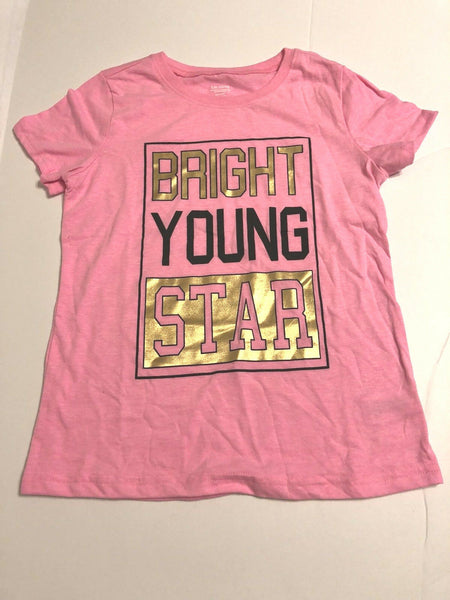 Girls Tee Shirt Pink Graphic Print