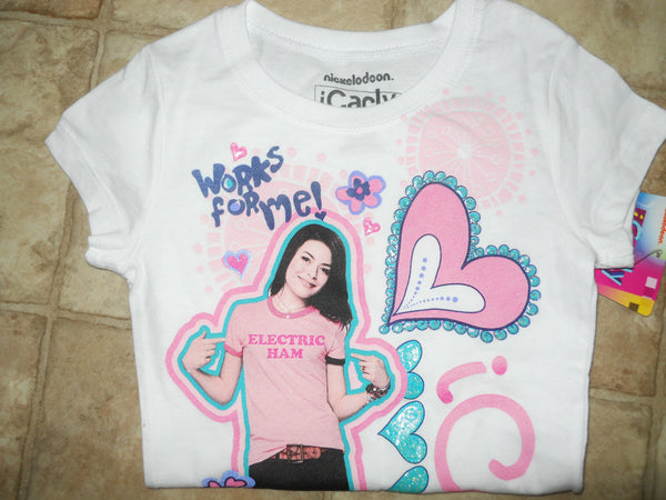 Girls Nickelodeon ICarly Tee Shirt Sz XS S M L XL Purple White Pink Grey New