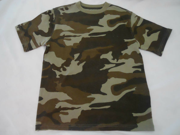 Boys Camo Tee Shirts Size XS S M L XL XXL Short Sleeve Crew Children Kids