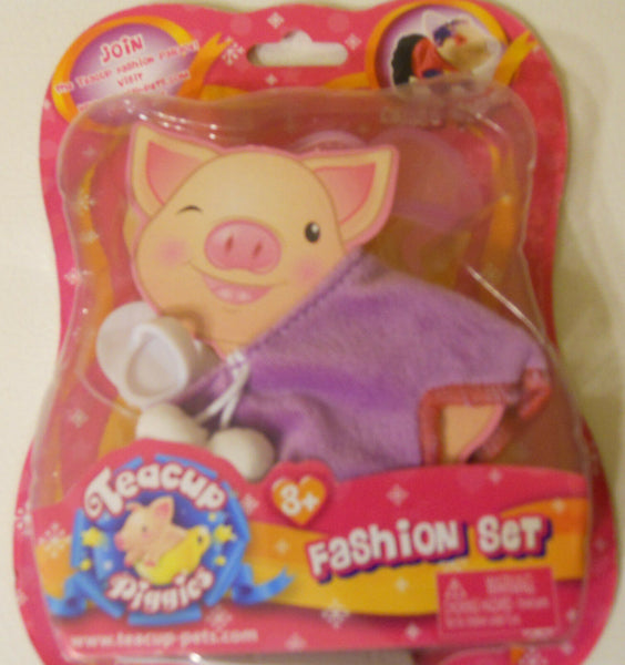 Pig Teacup Piggies Fashion Outfit Set Toy Clothes Purple White Glasses Goggles
