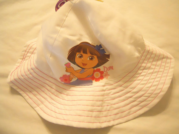 Baby Girls Bucket Hats Sun Hat UPF 50 Toddlers Kids White Pink Dora The Explorer
