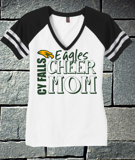 Cy Fair Eagles Cheer Mom District V-neck