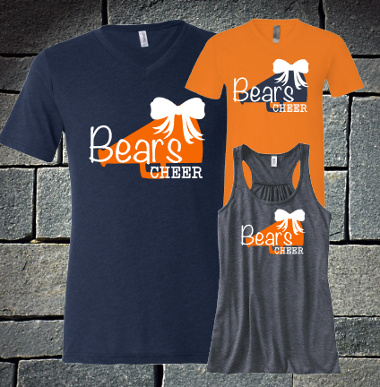 Bears Cheer with Bow