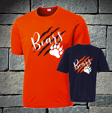 NEW 2020 Bears with Claw marks dri fit