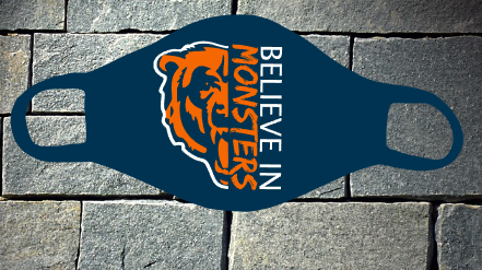 Bears Believe in Monsters navy mask