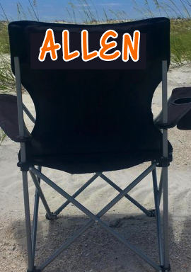 Name on Chair - Allen cheer 2020