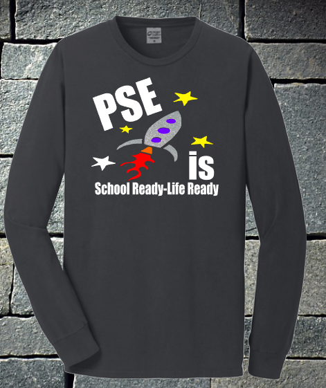 Mens - PSE is School Ready - Life Ready 2020 Grey Short or Long sleeve