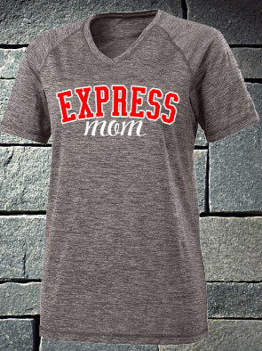 Express Mom V-neck electrify tee