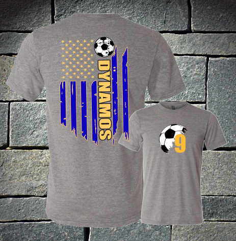 Dynamos flag grey t-shirt
