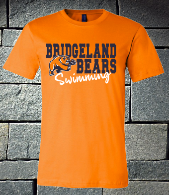 Bridgeland Bears with bear Swimming - ladies orange
