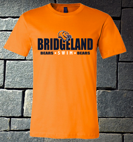 Bridgeland Bears Swim - orange