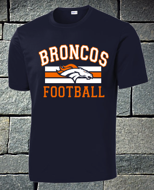 Broncos Football dri fit and t-shirts