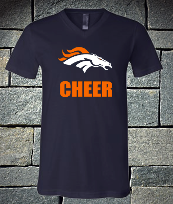 Broncos logo cheer dri fit and t-shirts