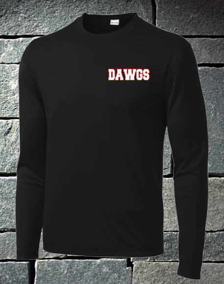 Long sleeve Dawgs softball - black