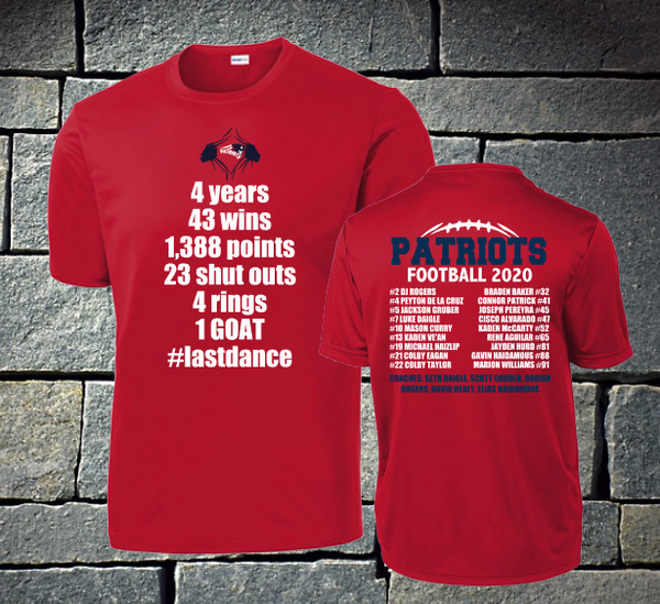 Copy of Patriots 2020 roster - t-shirt