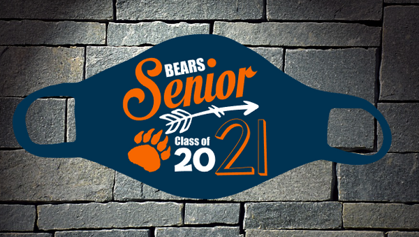 Bears Senior Class of 2021 mask