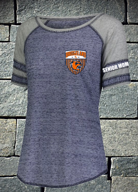 Bridgeland Soccer Ladies Advocate Tee - navy and silver