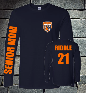 Bridgeland Soccer Senior Mom Long sleeve - navy