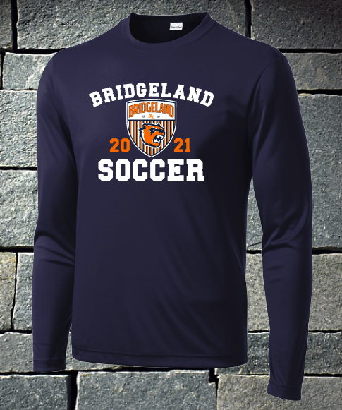 Bridgeland Soccer Long sleeve dri fit or t-shirt