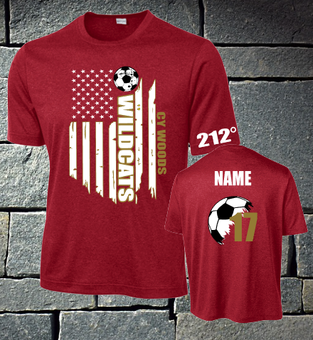 Cy Woods Soccer Heather Dri fit