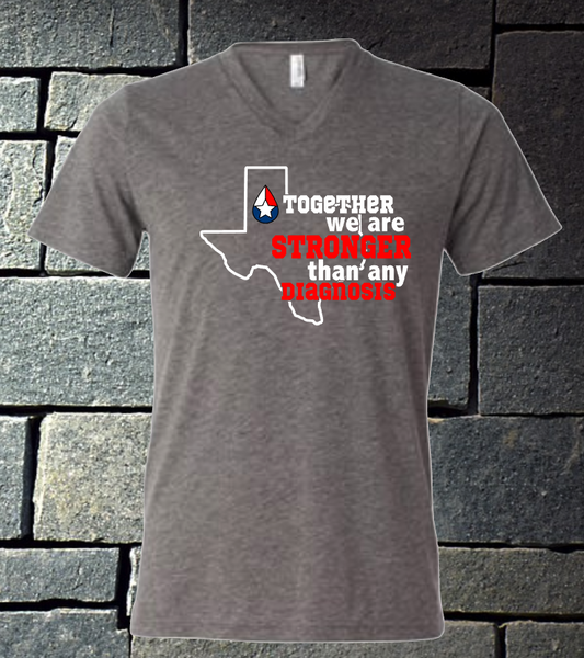 Together We are Stronger Than Any Diagnosis - grey triblend b/c
