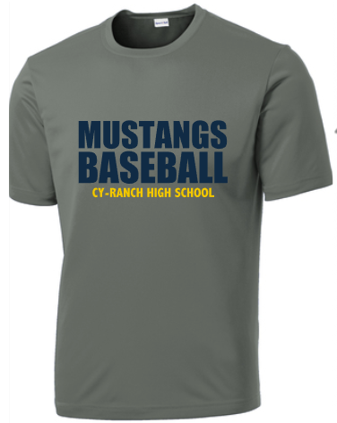 Mustangs Baseball Grey
