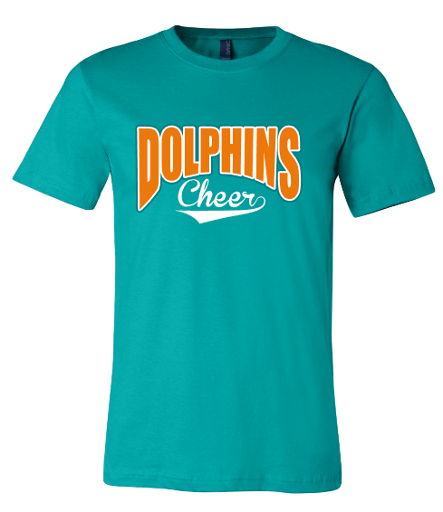 Dolphins Cheer with swoosh