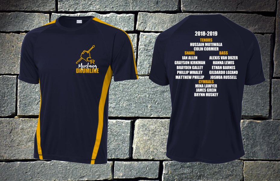 Cy Ranch Drumline Roster shirt