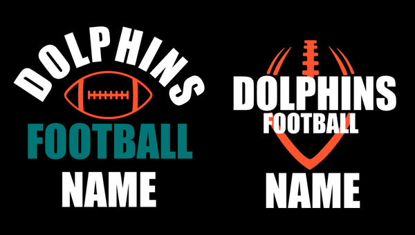 Dolphins Football Car Decal