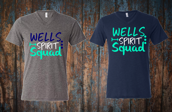 Wells Spirit Squad with dots and arrow