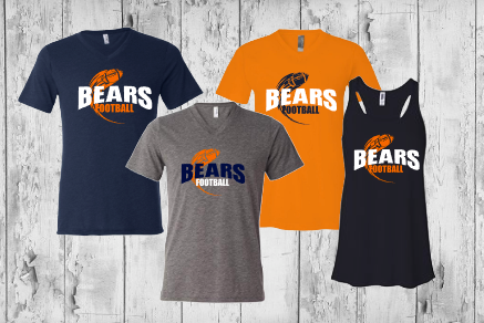 Bears Football with throwing football - ladies