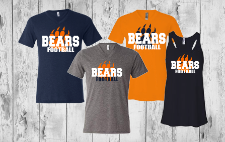 Bears Football with paw - ladies